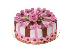Wonderful decorative cake flowers roses. Royalty Free Stock Photo