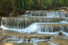 Multi-layered Waterfall in Thailand Royalty Free Stock Photo