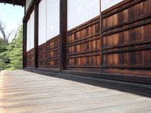 Wonderful details of Japanese architecture, wood, stones, paper and nature royalty free stock photo