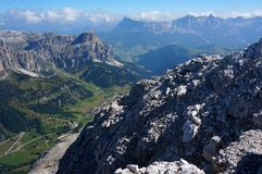 Wonderful dolomite mountains scenry / alpine landscape / great view Royalty Free Stock Photography