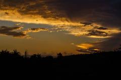 Wonderful dramatic sunset Stock Image