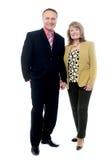 Wonderful elderly couple posing Royalty Free Stock Image