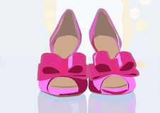 Wonderful and elegant pair of pink shoes vector illustration