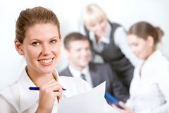 Wonderful employee Stock Images