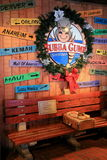 Wonderful entrance honoring the famous movie that moved so many, Forrest Gump,Bubba Gump Shrimp Co, NYC Stock Photo