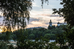 A wonderful evening on the river Ural. Stock Photography