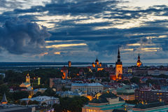 Wonderful evening scenic summer view of Tallinn, Estonia Royalty Free Stock Image