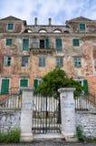 Wonderful facade in Gaios village, Paxoi island, Greece Royalty Free Stock Photo