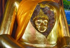 Wonderful face of the ancient of Buddha in the Buddha. stock image