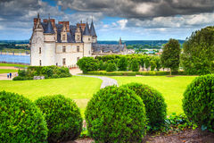 Wonderful famous castle of Amboise, Loire Valley, France, Europe Stock Images