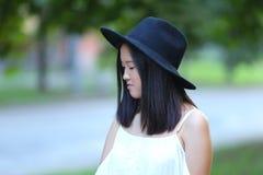 Wonderful female hat asian Stock Images