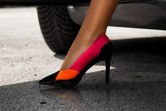 Wonderful female leg in sexy high heels Stock Image