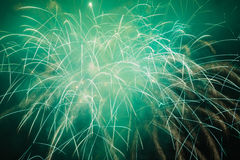 Wonderful fireworks at night Stock Photography