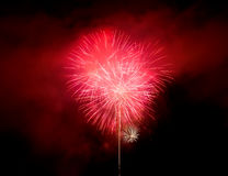 Wonderful fireworks at night Royalty Free Stock Photo
