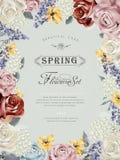 Wonderful floral poster design Royalty Free Stock Image