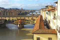 Wonderful Florence, view of Ponte vecchio & river Royalty Free Stock Images