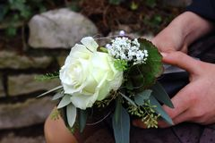 Wonderful flower in Germany on confirmation day of Girl. stock images