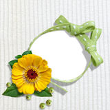 Wonderful frame with flower Stock Images