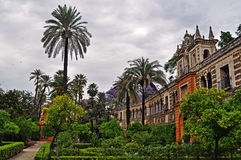 The wonderful gardens of the Alcazar in Seville Royalty Free Stock Photography