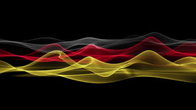 Wonderful german color flag animation for sport events, loop HD 1080p