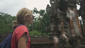 Wonderful Girl tourist in Indonesia stock video footage