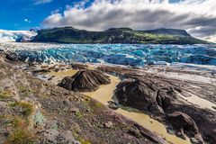 Wonderful glacier and mountains in Iceland Stock Photography