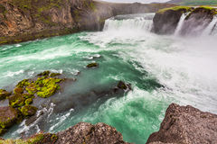 Wonderful Godafoss waterfall, Iceland Royalty Free Stock Image