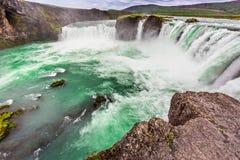 Wonderful Godafoss waterfall, Iceland. Wonderful Godafoss waterfall in Iceland stock image