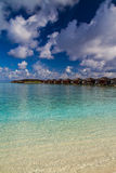 Wonderful green lagoon beach, Maldives Stock Image