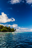 Wonderful green lagoon beach, Maldives Royalty Free Stock Photos