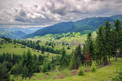 Summer. Wonderful hilly landscape with beautiful sky - Moldova, Romania Royalty Free Stock Images