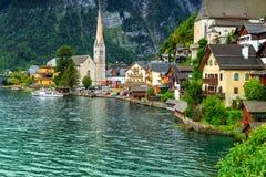 Wonderful historic village with alpine lake,Hallstatt,Salzkammergut region,Austria Royalty Free Stock Photo