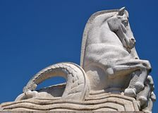 Historic horse statue in the belem parc in Lisbon - Portugal
