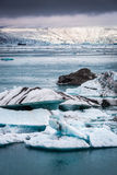Wonderful icebergs floating on the lake, Iceland Stock Images