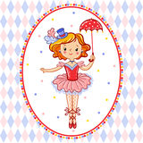 Wonderful illustration of circus artist. Stock Image