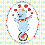 Wonderful illustration of circus Bear. Royalty Free Stock Images