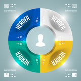 Wonderful Infographics Vector Template. Circles Diagram. Vector EPS10 Concept Illustration Design Stock Photo