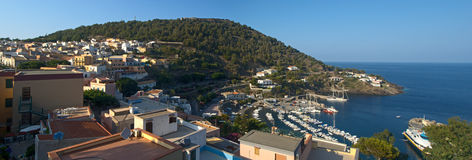 The wonderful island of Ustica. Panorama Royalty Free Stock Images