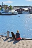 Wonderful june day in Luleå Royalty Free Stock Images