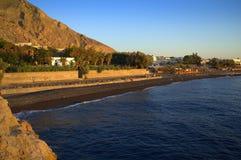 Kamari village early morning,Santorini Stock Image