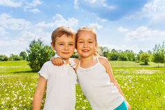 Wonderful kids standing together Stock Images