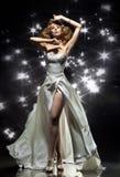 Wonderful lady. Wearing gorgeous dress Stock Photography