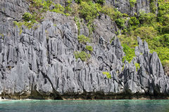 Wonderful lagoon in El Nido, Philippines . Rock and sea Royalty Free Stock Images