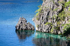 Wonderful lagoon in Philippines Royalty Free Stock Images