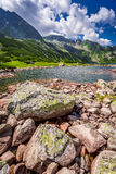 Wonderful lake in the mountains and rocks, Poland. Europe stock image