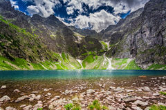 Wonderful lake in the Tatra Mountains at summer Stock Images