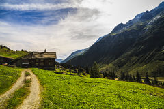 Wonderful landscape in the Alps Royalty Free Stock Photos