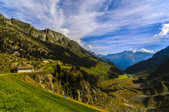 Wonderful landscape in the Alps Stock Photos