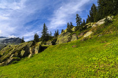 Wonderful landscape in the Alps Royalty Free Stock Photo