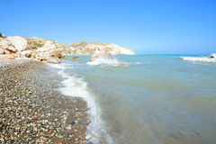 Wonderful landscape of Aphrodite bay in Cyprus Stock Photo